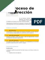 Proceso de Direccion