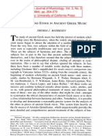 Mathiesen, Harmonia and Ethos in Ancient Greek Music