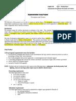 argumentative essay project description