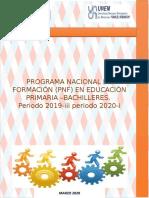 CUADERNILLO PNF PRIMARIA 1ER TRAYECTO BACHILLERES