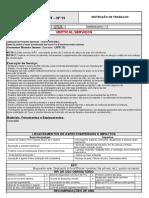 INSTRUÇÃO DE TRABALHO APR 15 APLICAÇÃO DO PRODUTO QUIMICO CALCÁRIO DOLOMÍTICO