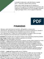 resumen examen Finanzas. Olivera Sánchez