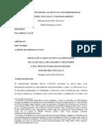 LA EDUCACIÓN DESDE M. FOUCAULT Y H. ARENDT, BORDAMALO-BOHORQUEZ, 2020 (1)