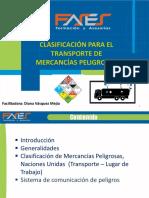 Memorias Comision Riesgos Tecnologicos Clasificacion para el Transporte de MATPEL oct 2105