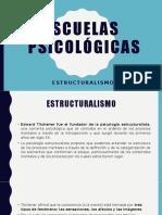 PSICOLOGIA ESCUELAS PSICOLOGICAS