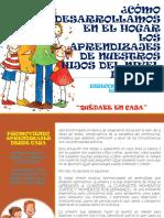 CARTILLA PADRES EN EL APRENDIZAJE    DE SUS HIJOS