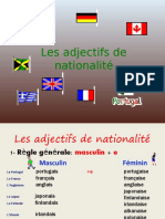 Adjectifs de nationalité