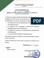Note d'information Partenaires et Clients COVID-19