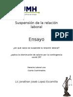 Suspensión de La Relación Laboral