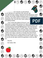 parent news letter carolina forest elementary