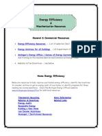 Energy Efficiency and Weatherization Resources