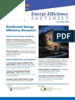 Residential Energy Efficiency Resources