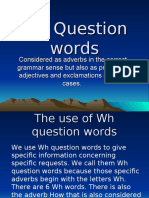 Wh Question words
