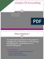 Basic Terminologies of Accounting