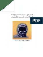 La topología de Lacan no es aplicable al psicoanálisis tal como lo formuló Freud - Alfredo Eidelsztein