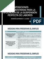 Disposiciones COMPLEMENTARIAS PARA LA APLICACIÓN DE LA SUSPENSIÓN PDF