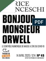 Patrice Franceschi, Bonjour, monsieur Orwell