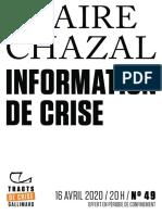 Claire Chazal, Information de crise.pdf
