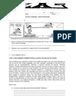 Prova de Recuperação Português 8 ano