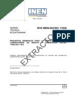 APEL NTE INEN ISO IEC 17025 Requisitos Generales Para La Competencia de Laboratorios de Ensayo y Calibración 04 2018