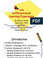 differentiated learning experience