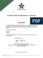 CERTIFICADO microfinanzas