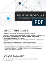 Relative Pronouns Intermediate Grammar