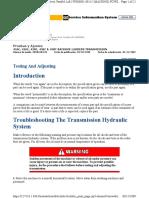 PRUEBAS AJUST TRANSMISION 416C, 426C, 428C, 436C & 438C