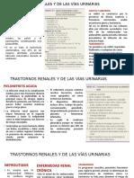 TRASTORNOS RENALES Y DE LAS VÍAS URINARIAS TRABAJO