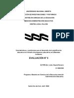 Trabajo II Informe características y condiciones para el desarrollo de la planificacion. II evaluacion Navarro 13901036.docx