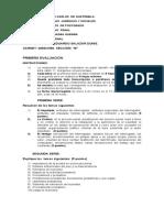 Primer Examen, Prueba Penal (1)