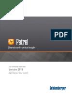 Petrel 2016 Installation Guide
