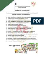 NORMAS DE CONVIVENCIA