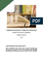 Comunicación escrita y fases de la escritura