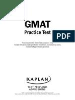 GMAT Practice Test