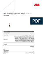 2CDS251001R0024 Miniature Circuit Breaker s200 1p c 2 Ampere