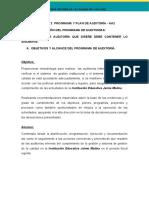 TALLER 2 PLAN DE AUDITORIAS