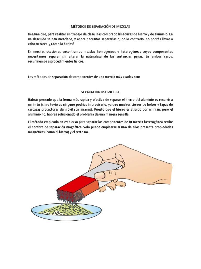 Métodos De Separación De Mezclas Docx 2 Destilación Mezcla