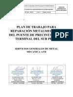 PLAN DE TRABAJO PARA REPARACIÓN METALMECÁNICA DEL PUENTE DE PRECINTADO DEL TERMINAL DEL SUR PISCO