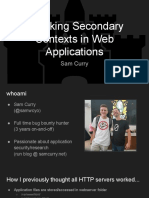 Attacking Secondary Contexts in Web Applications