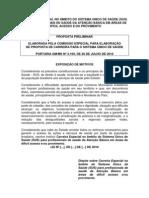 CARREIRA ESPECIAL no âmbito do Sistema Único de Saúde - Proposta final entregue ao ministro da saúde