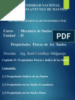 Mecánica Suelos I - Cap II - Propiedades de suelos.pptx