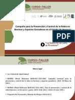 Acciones y avances de la Camapaña Nacional contra la Rabia en las especies ganaderas-MVZ Natanael Cano