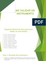 pasos 1 y 2 para validar un instrumento