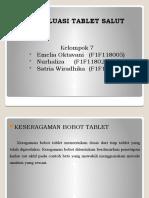 Evaluasi tablet salut kel7