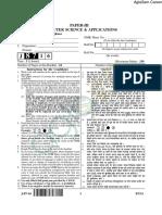 CBSE NET July 2016 Paper III Computer Sc.