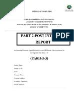 Post Internship Part 2 SHERAJ