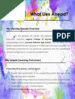 Episode 1 Portfolio For Practice Teaching Sample