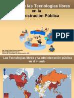 Impacto de las tecnologías libres en la Administración
