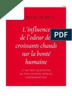 L'influence de l'odeur des croissants chauds sur la bonté humaine_ et autres questions de philosophie morale expérimentale